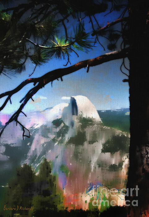 Half Dome Print by Barbara D Richards