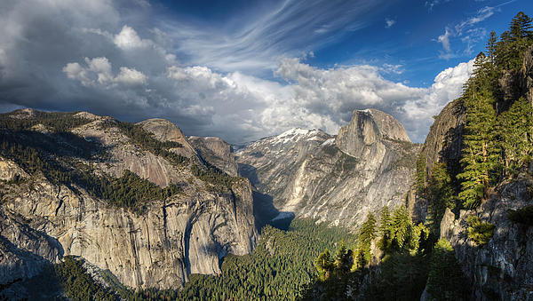 Half Dome From Four Mile Print by Chris Martin