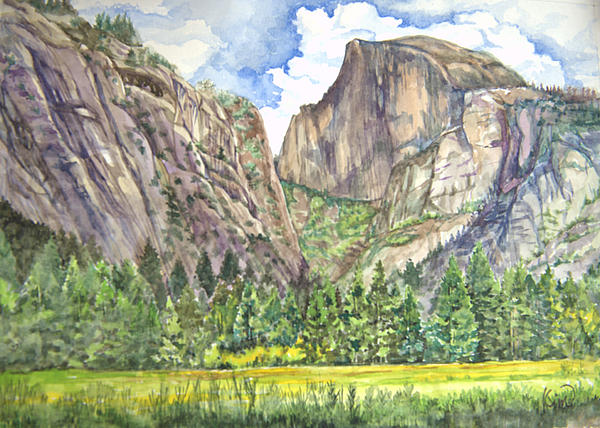 Half Dome In Spring Print by Heewon Kim