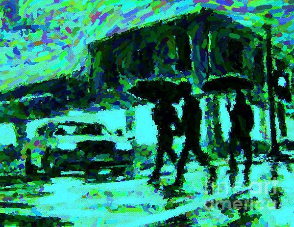 Halifax On A Rainy Night Print by Halifax Artist John Malone