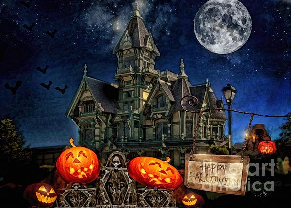 Halloween Spot Print by Mo T