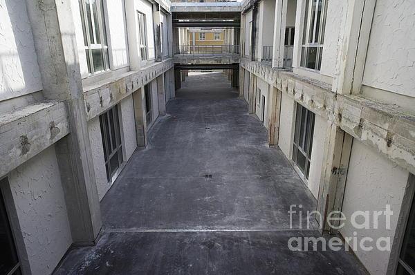 Hallway In Between Renovated Buildings Print by Sami Sarkis