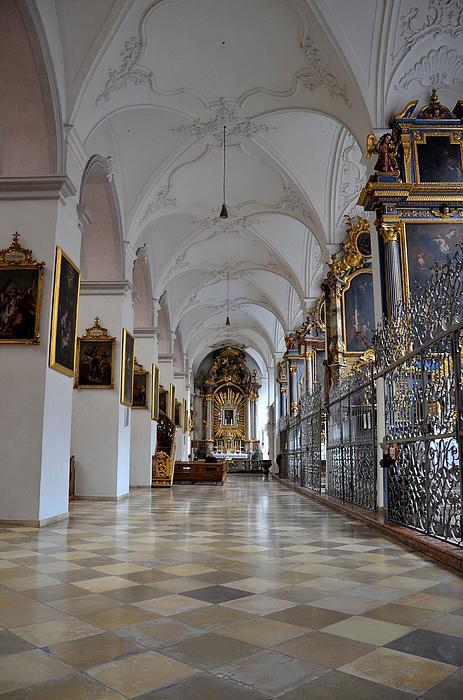 Hallway Of A Church Munich Germany Print by Imran Ahmed