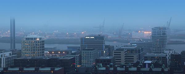 Hamburg Hafencity Panorama Print by Marc Huebner