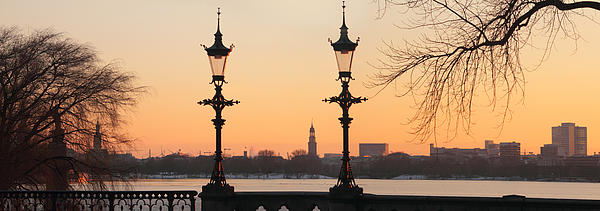Hamburg Romance Print by Marc Huebner
