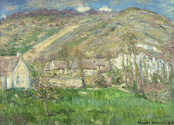 Hamlet In The Cliffs Near Giverny Print by Claude Monet