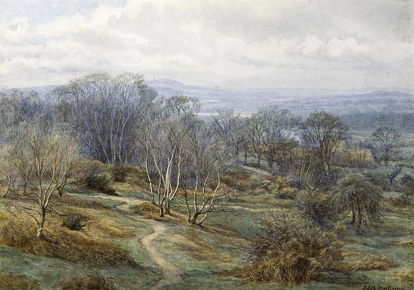 Hampstead Heath Looking Towards Harrow On The Hill Print by Edith Martineau