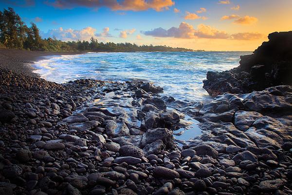 Hana Bay Sunrise Print by Inge Johnsson