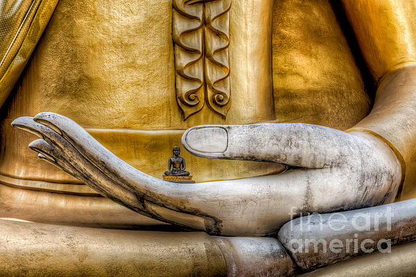 Hand Of Buddha Print by Adrian Evans