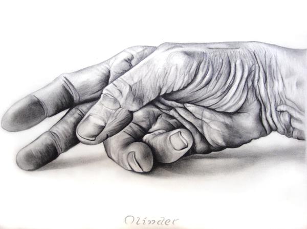 Hand Of Hard Work Print by Atinder Paul Singh