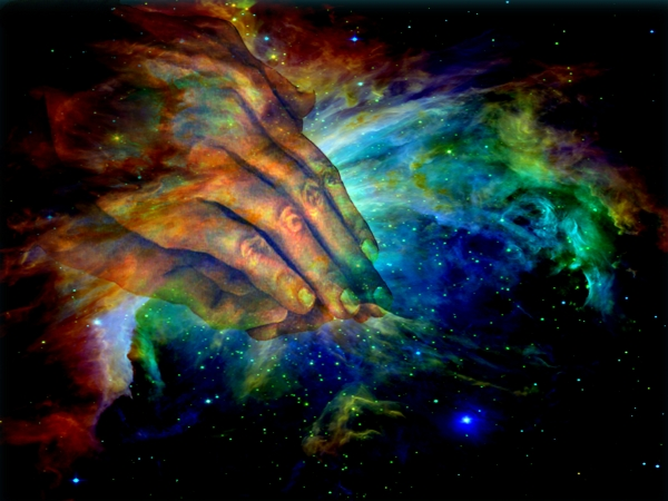 Hands Of Creation Print by Evelyn Patrick