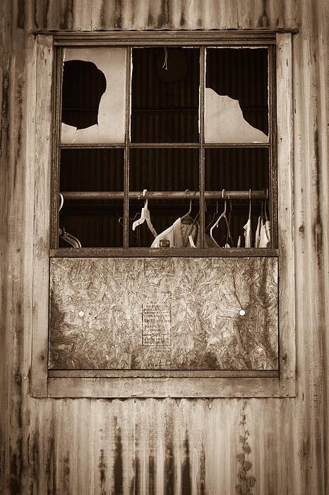 Hangers In The Window Print by Randy Bayne