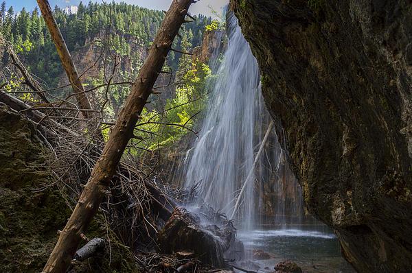 Hanging Lake Falls Print by Michael J Bauer