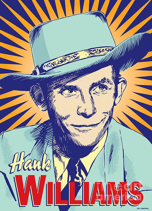 Hank Williams Pop Art Print by Jim Zahniser