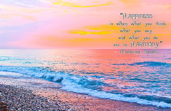 Julia Apostolova - Happiness Quote Mahatma Gandhi