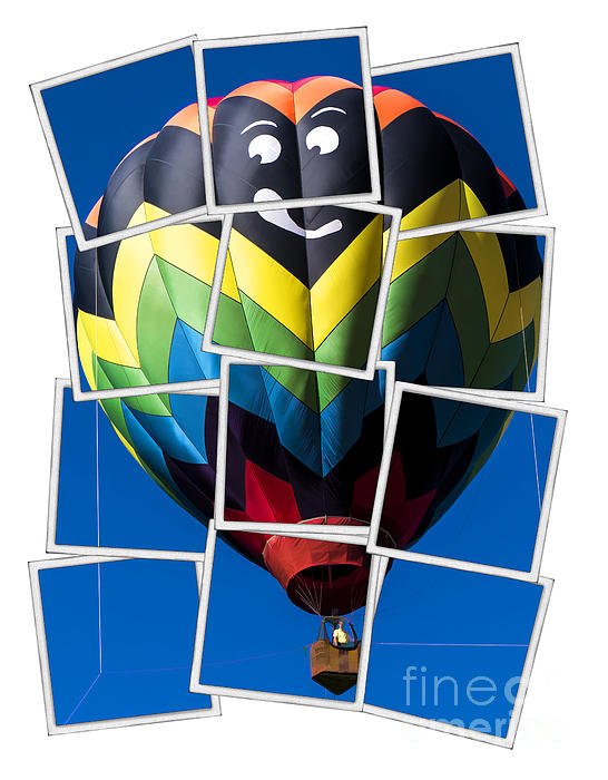 Happy Balloon Ride Print by Edward Fielding