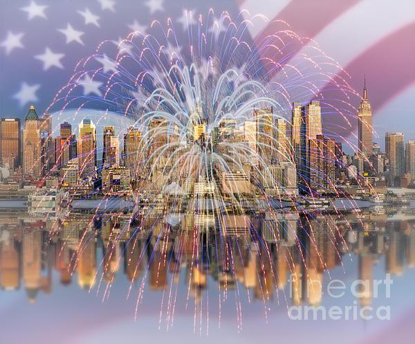 Happy Birthday America Print by Susan Candelario