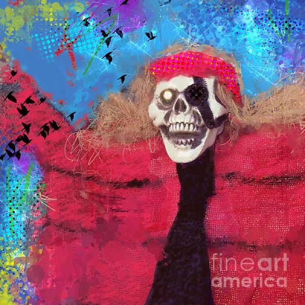 Happy Halloween Print by Elena Nosyreva