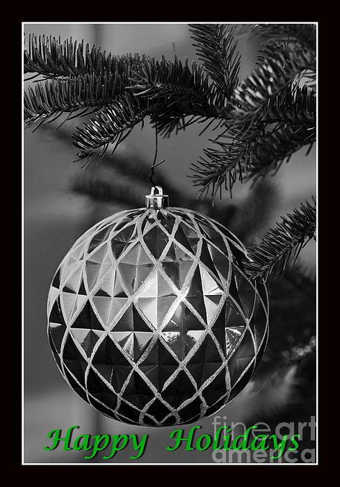Happy Holidays Green Print by Francie Davis