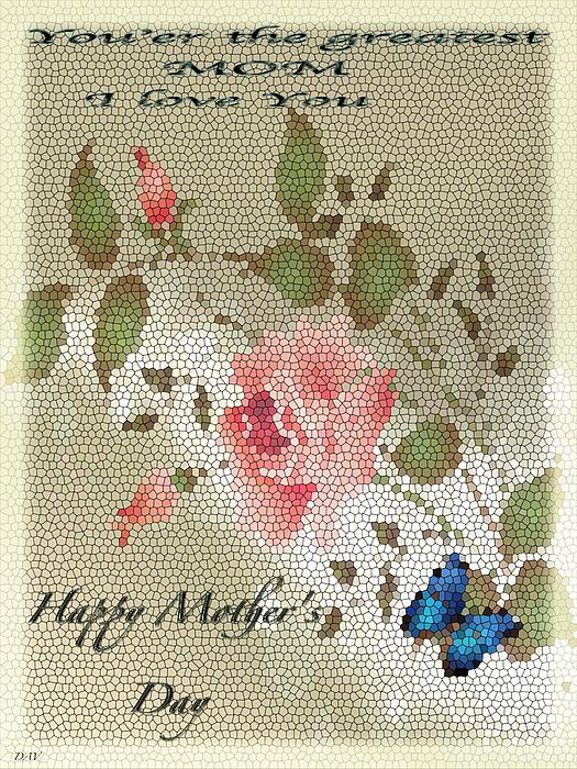 Happy Mothers Day Card Print by Debra     Vatalaro