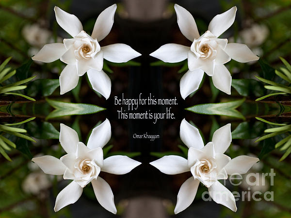 Happy - Omar Khayyam Quote Print by Susan Bloom