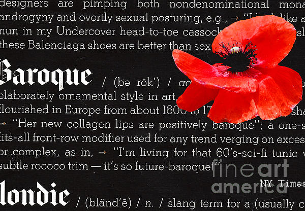 Happy Poppy Typography Print by adSpice Studios