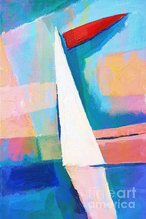 Happy Sailing Print by Lutz Baar