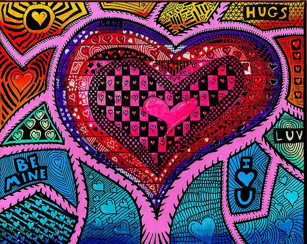 Happy Valentine's Day 2013 Print by Sam Bernal