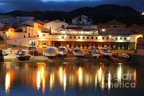Harbour At Twilight Print by Gaspar Avila
