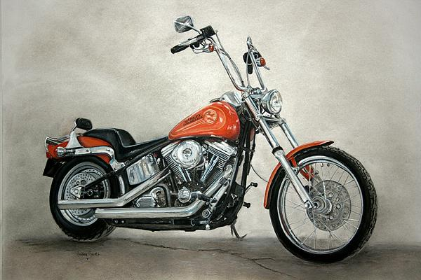 Harley Davidson Print by Heather Gessell