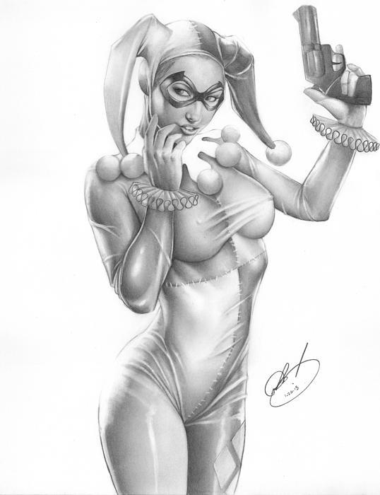Harley Quinn Print by Pete Tapang