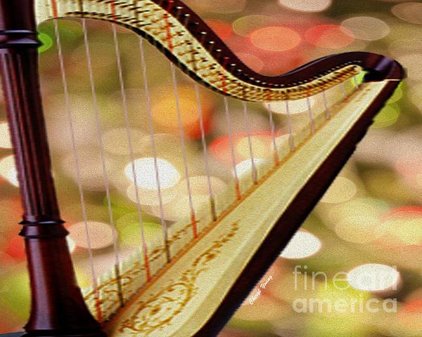 Harp Print by Cheryl Young