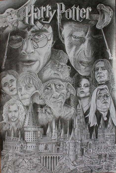 Harry Potter Montage Print by Mark Harris