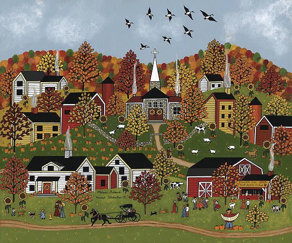 Harvest Celebration II Print by Medana Gabbard