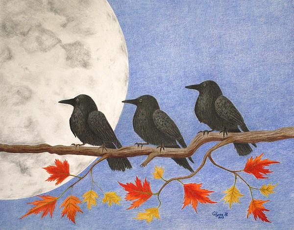 Harvest Crows Print by Alyssa Glosson