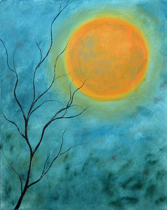 Harvest Moon Print by Burt Hanna