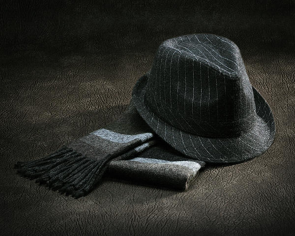Hat And Scarf Print by Krasimir Tolev