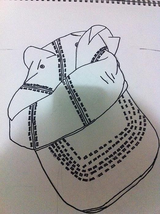 Hat Drawing Print by Khoa Luu