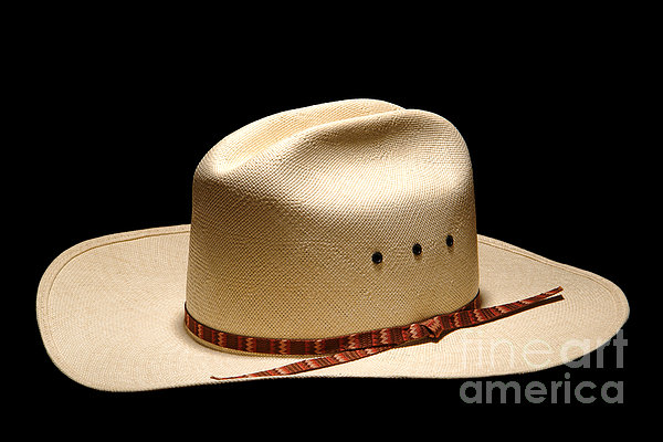Hat On Black Print by Olivier Le Queinec