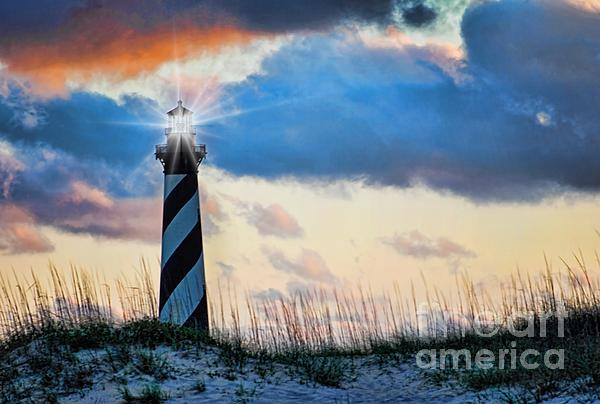 Hatteras After The Storm Print by Laurinda Bowling