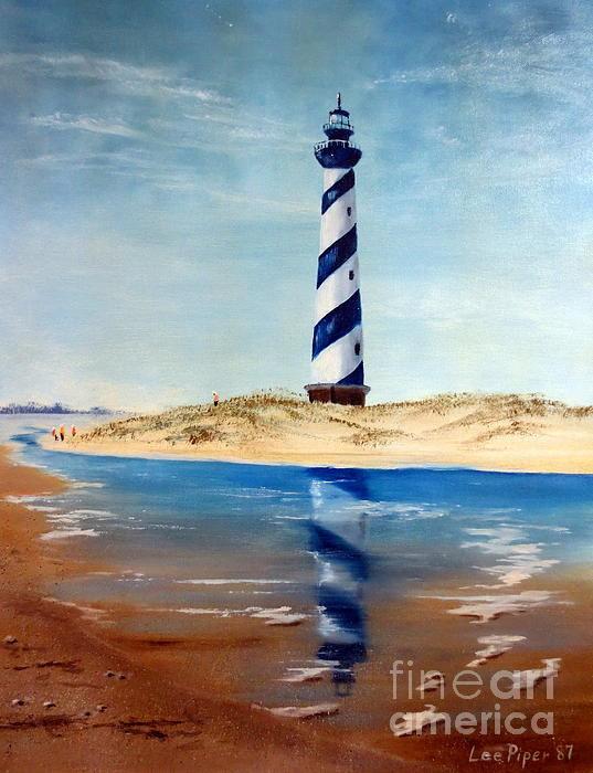 Hatteras Lighthouse Print by Lee Piper