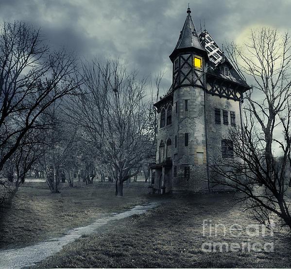 Haunted House Print by Jelena Jovanovic