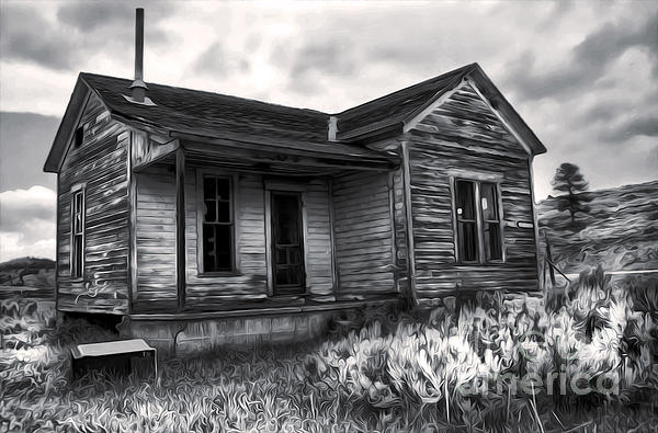 Haunted Shack - 01 Print by Gregory Dyer
