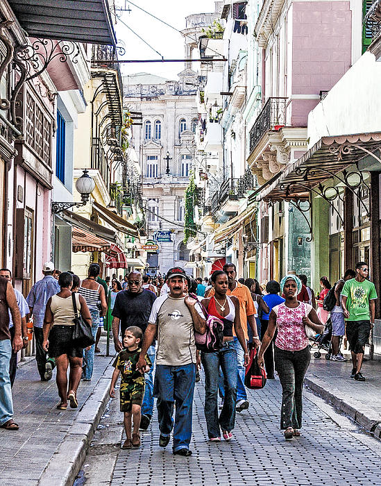 Havana Street V Print by Jim Nelson