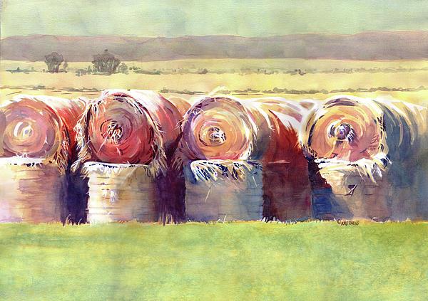 Hay Bales Print by Kris Parins