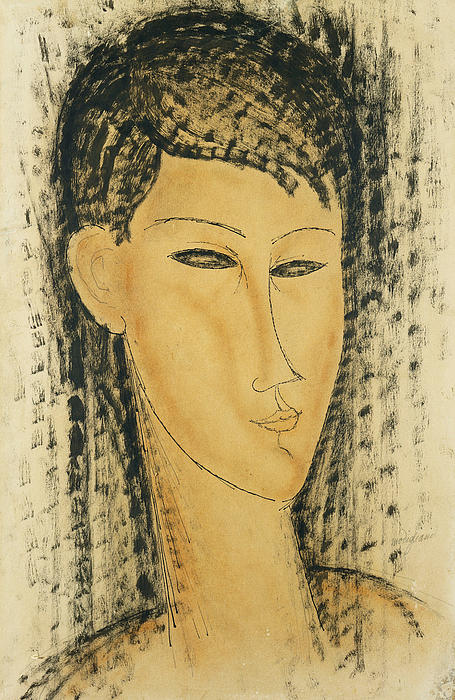 Amedeo Modigliani  - Head of a Young Women