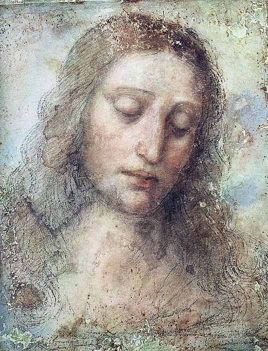 Head Of Christ Print by Karon Melillo DeVega