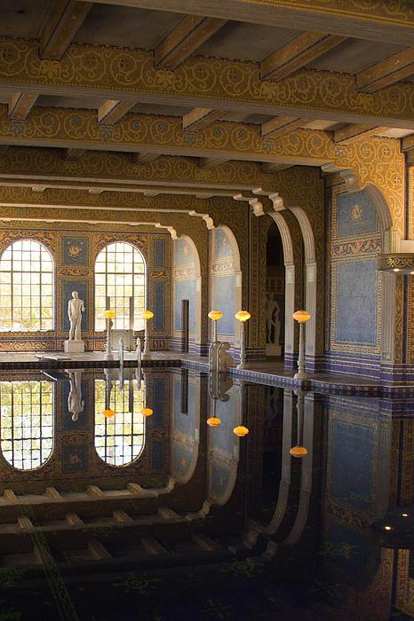 Hearst Castle Roman Pool Reflection Print by Heidi Smith