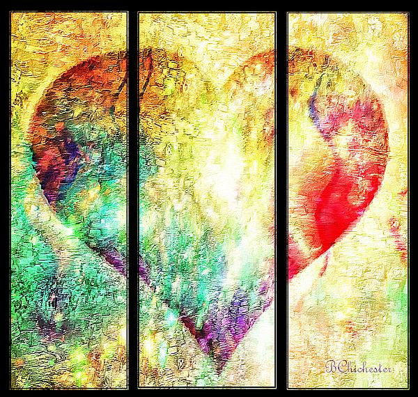 Heart Divided - Bchichester Print by Barbara Chichester