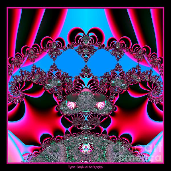 Hearts Ballet Curtain Call Fractal 121 Print by Rose Santuci-Sofranko
